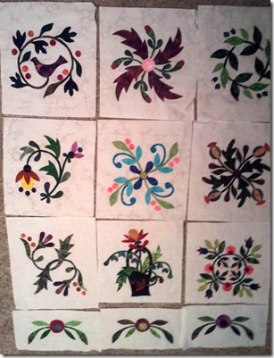 Design Wall Monday-Applique Affair