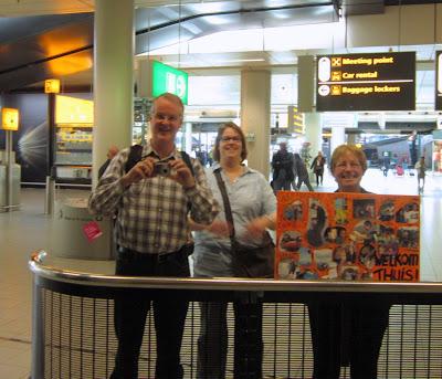 Family! Schiphol! Netherlands!