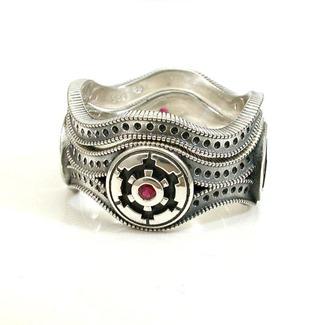 Star Wars Wedding Ring Set by Swank Metalsmithing