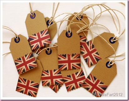 Union Flag Tags