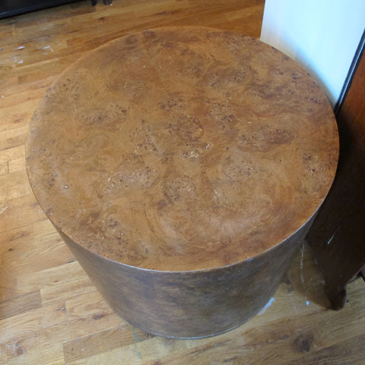 This table matched another smaller piece. We loved the unique marbled pattern and its sheer bulk.