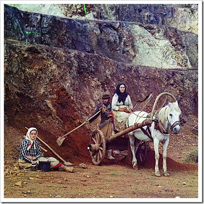 Family working at Bakalskii mine