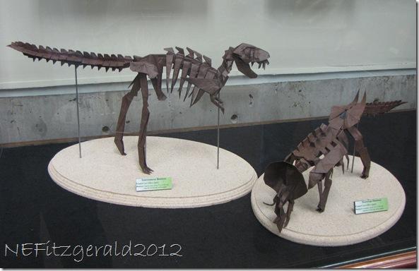 IMG_0659 Origami TyrannosaurusAndTriceratops Skeletons