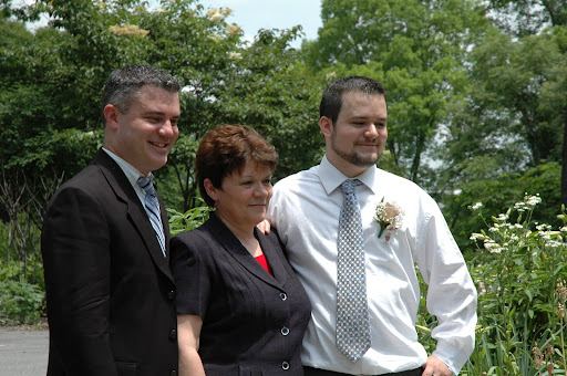 Chris, Mom, and Corey