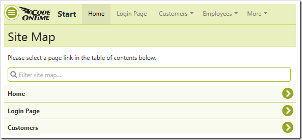 The user has been logged in and redirected to the Home page.