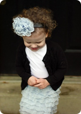 ruffle flower headband tutorial