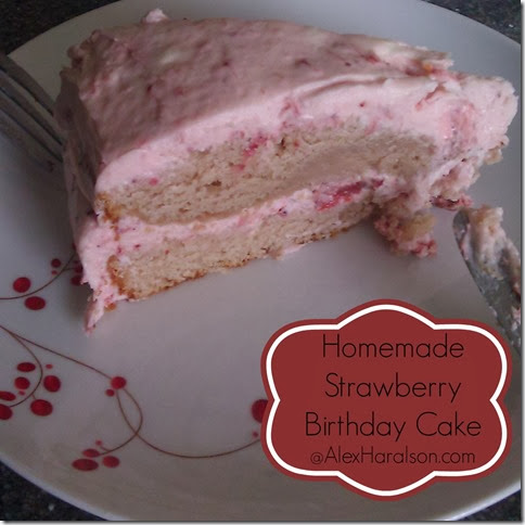 homemade strawberry birthday cake2