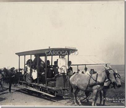 Bonde de Sepetiba - início do sec XX. Foto Augusto Malta.