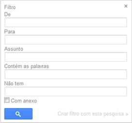Preencha os campos - Gmail
