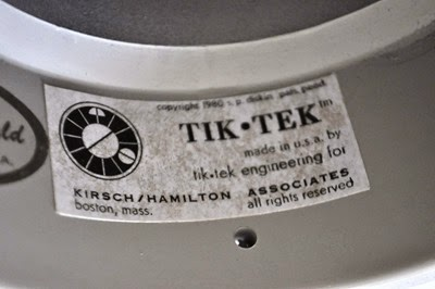 Kirsch Hamilton Steve Diskin Tik Tek Engineering PVC clock label