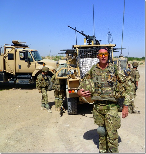 Padre Mark prepares to patrol with British and Afghan soldiers