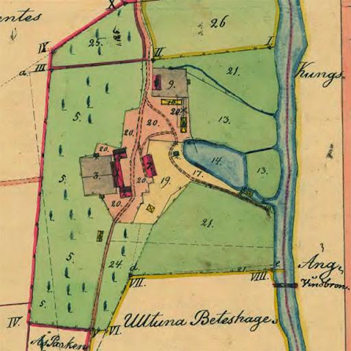 Sandvikskällan 1853. Hospitalet har flyttat ut till det gamla bränneriet.