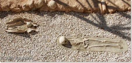 villa romana de Alfaz del Pi - enterramientos infantiles