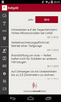 Screenshot of Bußgeld
