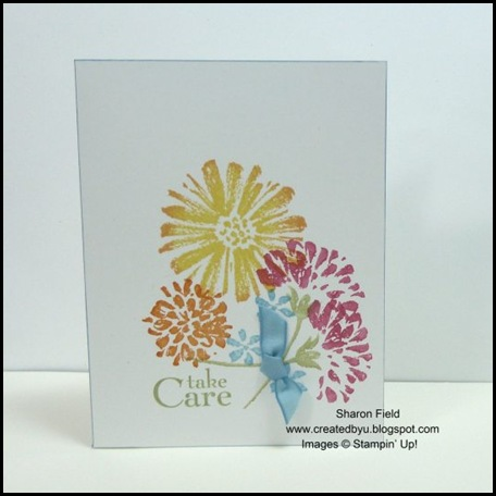 CAS, Clean and Simple, Shop Online, Summer Mini, Swaps, 5 Minute Card, VC Rocks, Love and Care, Sharon Field, Created by You