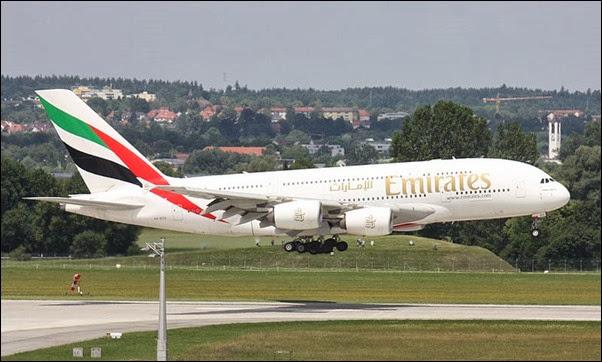 طائرة 380 الاماراتية