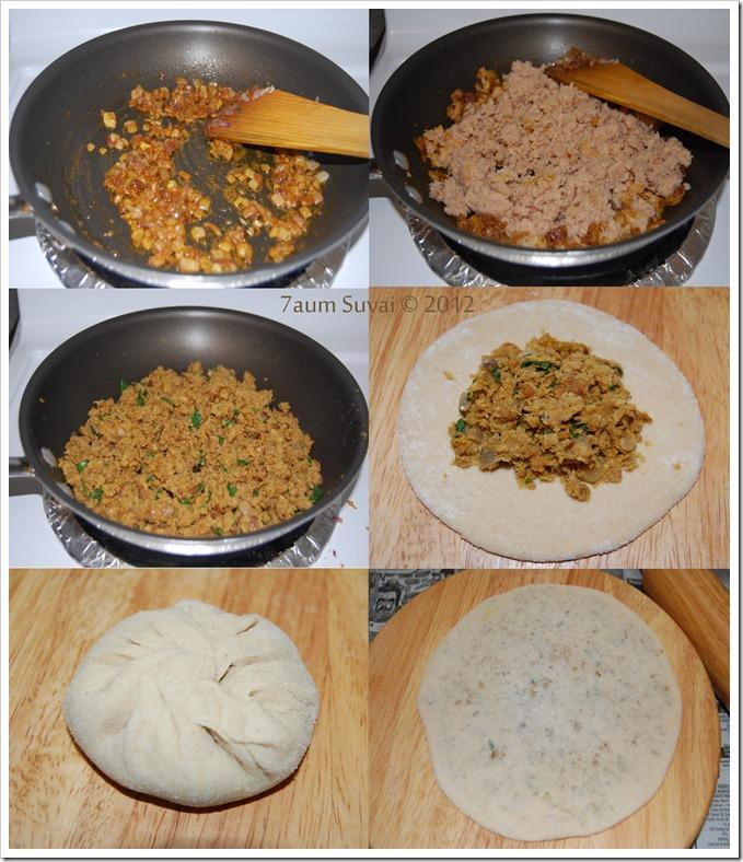 Soya chunk paratha Process