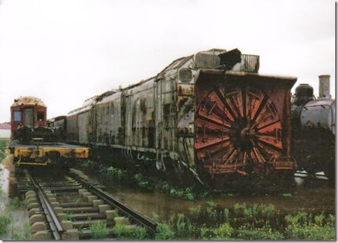 Union Pacific Rotary Snow Plow #900075 at the Illinois Railway Museum on May 23, 2004
