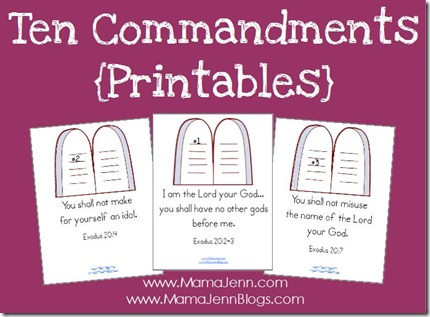 Ten Commandments Printables