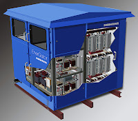 Bombardier's EnerGstor wayside energy storage system uses ultracapacitors from Maxwell Technologies to capture and store potentially wasted braking energy and recycle it back to the system. The arrangement can cut network energy consumption by up to 20%, Bombardier says, 'providing both economic and environmental benefits.'