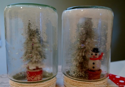 Snowman and Flocked Tree Jars[8]