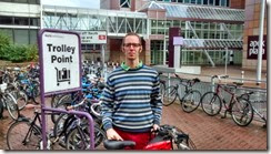 Rob White at Reading Station bike parking overload lq