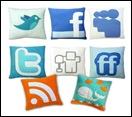 almofadas redes sociais