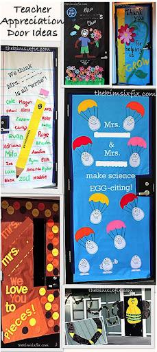 Teacher Appreciation Door Decorating Ideas (and Tutorial)   The Kim Six Fix