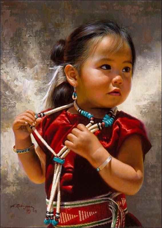 Alfredo Rodriguez,Portrait de petite fille indienne