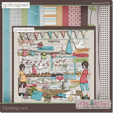 Pregnancy Themed Digital Scrapbooking Kits