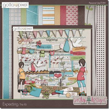 Pregnancy Themed Digital Scrapbooking Kits