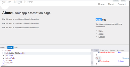 CSSinPageInspectorVisualStudio2012