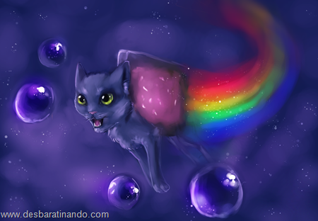 nyan cat wallpaper meme desbaratinando (2)