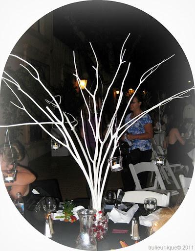 centerpieces The Venue Tlaquepaque Sedona AZ Colors Black White w