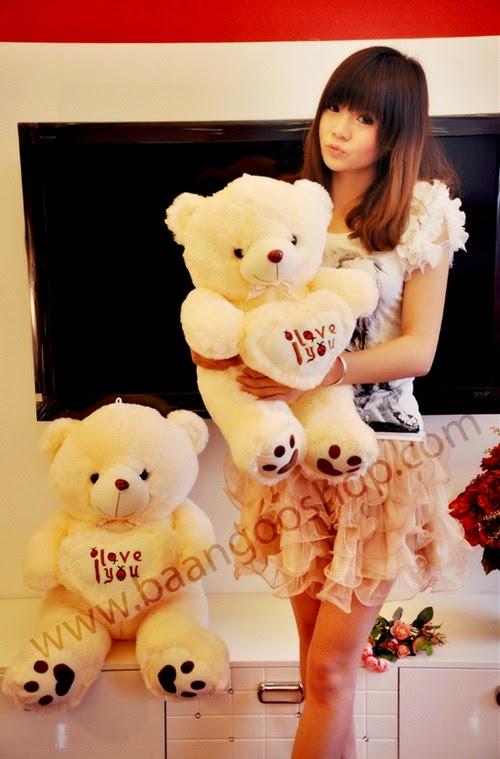 ตุ๊กตาหมี I Love U