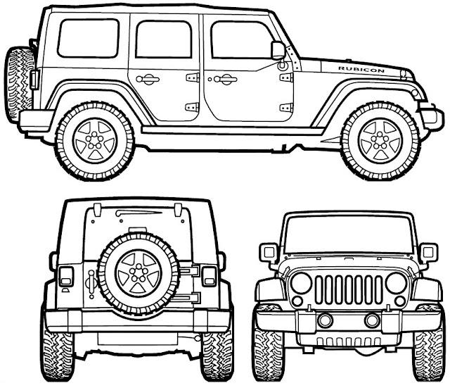 dibujos de jeeps para pintar