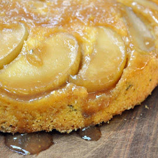 Apple Sage Upside Down Polenta Cake