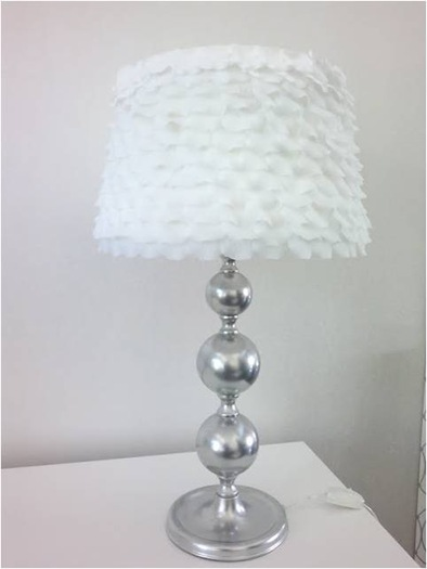 petal lampshade makeover