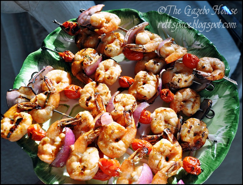 Grilled garlic shrimp & rice 007