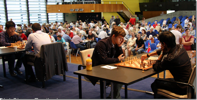 Earlier rounds in Biel playing hall 2012