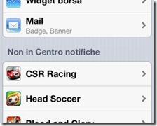 Applicazione iPhone spostata in Non in Centro notifiche