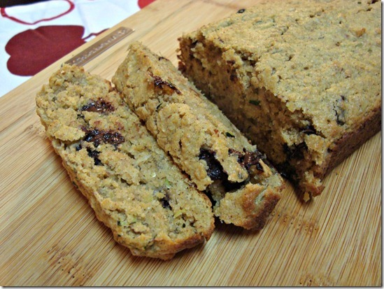 Healthier Chocolate Chip Zucchini Bread and more recipes for healthy chocolate zucchini bread on MyNaturalFamily.com #zucchini #chocolate #bread #recipe