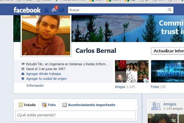 fecha de nacimiento en Facebook