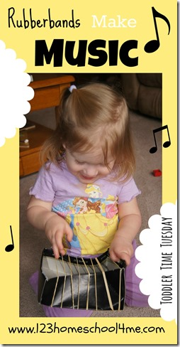 toddler time tuesday rubberbands make music