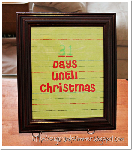 DIY Christmas Countdown v2