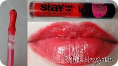 essence stay with me lipgloss rosso