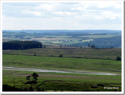 England from Housesteads Roman Fort.