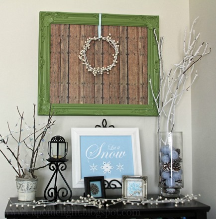 framed faux pallet