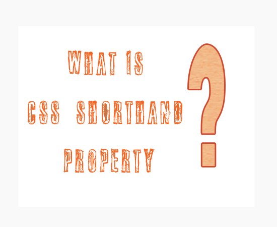 css shorthand property