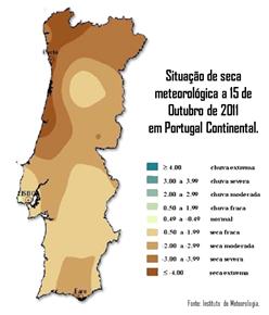 Portugal Continental Seca Outubro 2011